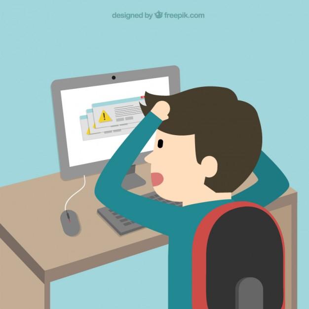 Os Problemas Do Computador Dos Desenhos Animados 23 2147503369